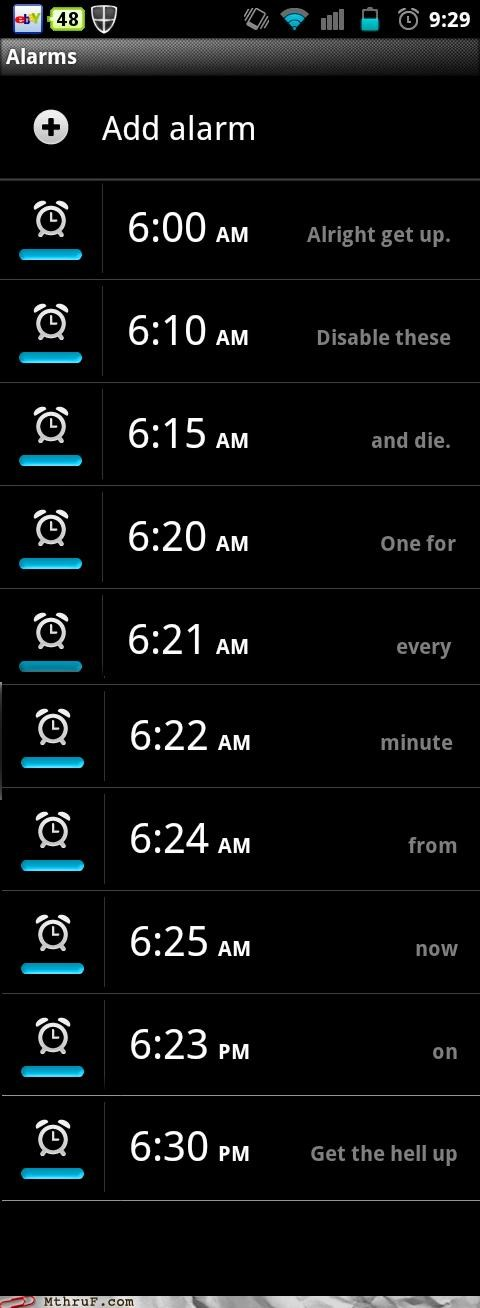 No Seriously, I Mean it this Time. The Next Alarm is Going to be Nyancat