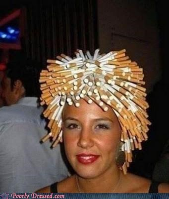 cancer hair,cigarettes,not her real hair