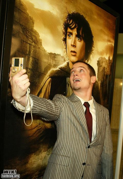 camera,elijah wood,Inception,Lord of the Rings,picture,self portrait,yo dawg