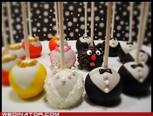 bridal party,cake pops,funny wedding photos,wedding cakes