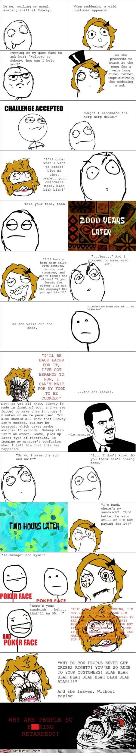 customers,fast food,rage comic,the customer is never rig,wrong