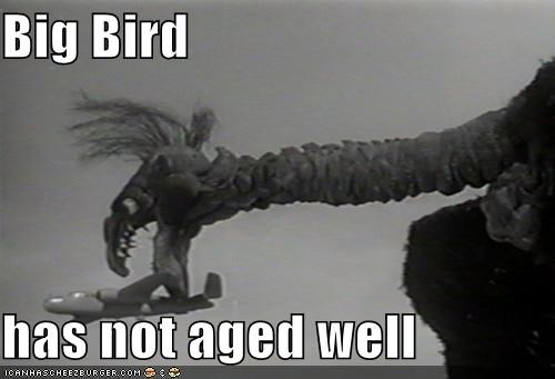 aging,big bird,marionette,puppet,the giant claw