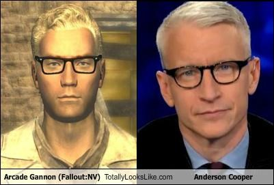 Arcade Gannon (Fallout:NV) Totally Looks Like Anderson Cooper