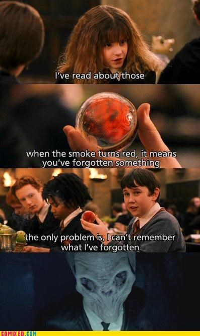 best of week,cant-remember,Harry Potter,neville,smoke