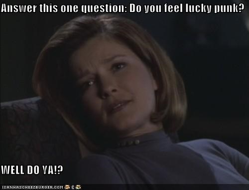 Answer this one question: Do you feel lucky punk?  WELL DO YA!?