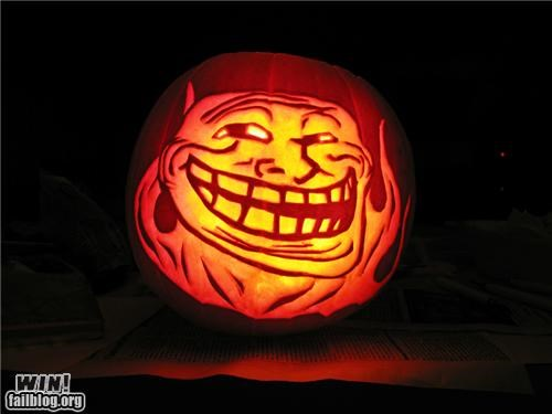 halloween,holiday,meme,nerdgasm,pop culture,pumpkins,troll,troll face