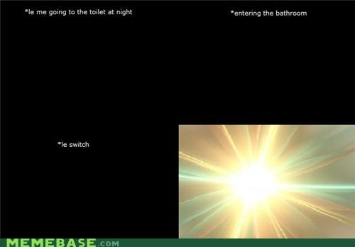 bathroom,dark,gardening at night,Rage Comics,REM reference,too young to understand