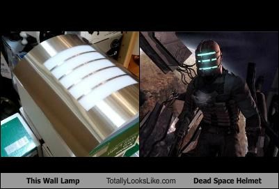 This Wall Lamp Totally Looks Like Dead Space Helmet