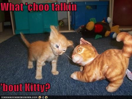 What 'choo talkin  'bout Kitty?