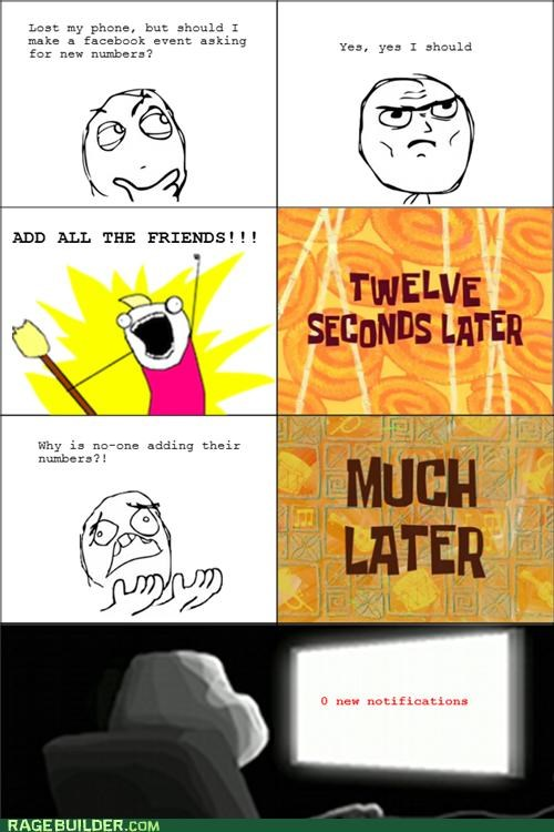 facebook,forever alone,phone numbers,Rage Comics