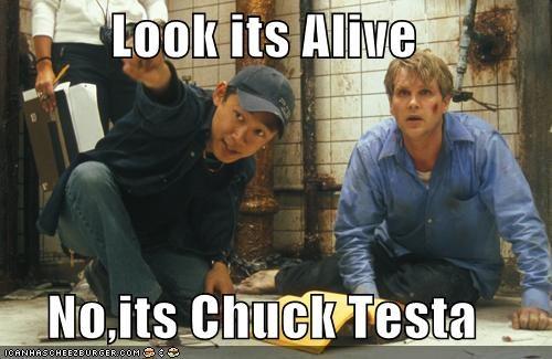 Look its Alive  No,its Chuck Testa