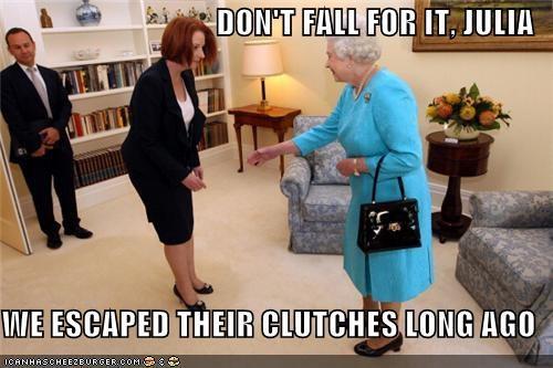 australia,Julia Gillard,political pictures,Queen Elizabeth II