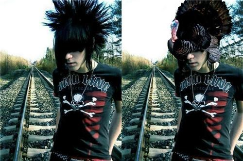 Emo Kid Hair Totally Looks Like A Turkey