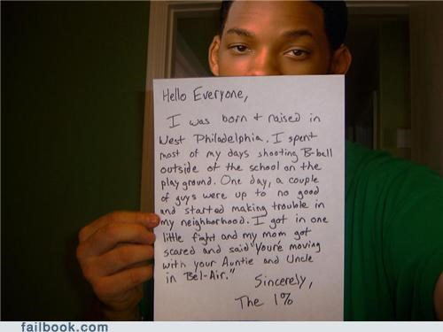 Featured Fail,fresh prince,Occupy Wall Street,song lyrics,will smith,win