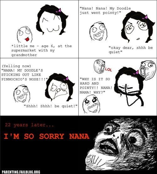 adolescent,grandma,morning wood,Parenting Fail,puberty,rage comic