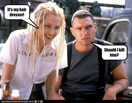 Angelina Jolie,Gone in Sixty Seconds,hair,hairdressers,murder,ugly,Vinnie Jones