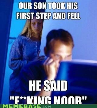fell,Internet Husband,noob,son,steps,video games