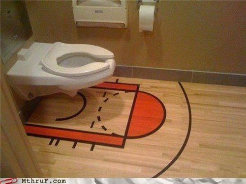 Who's Been Trying to Make Three Pointers Lately? This Room is a Mess...
