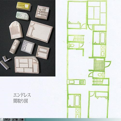 House Layout Stamps