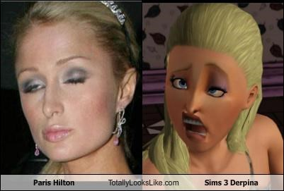 Paris Hilton Totally Looks Like Sims 3 Derpina