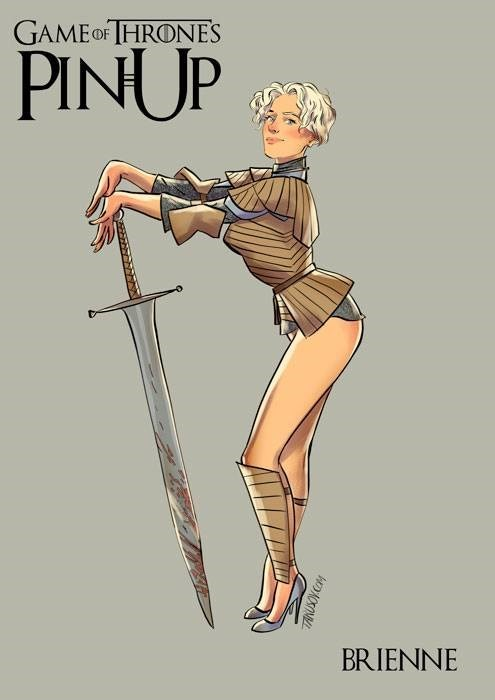 These 10 Game of Thrones Pin Up Posters Will Help Ease You into Monday