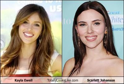 Kayla Ewell Totally Looks Like Scarlett Johansson