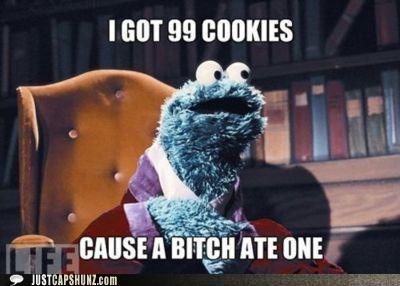 99,99 cookies,99 percent,99 problem,Cookie Monster,cookies,Sesame Street