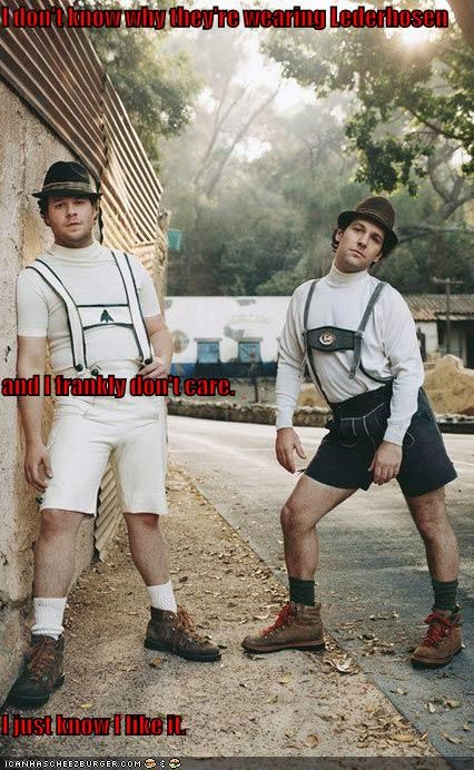 I don't know why they're wearing Lederhosen and I frankly don't care. I just know I like it.