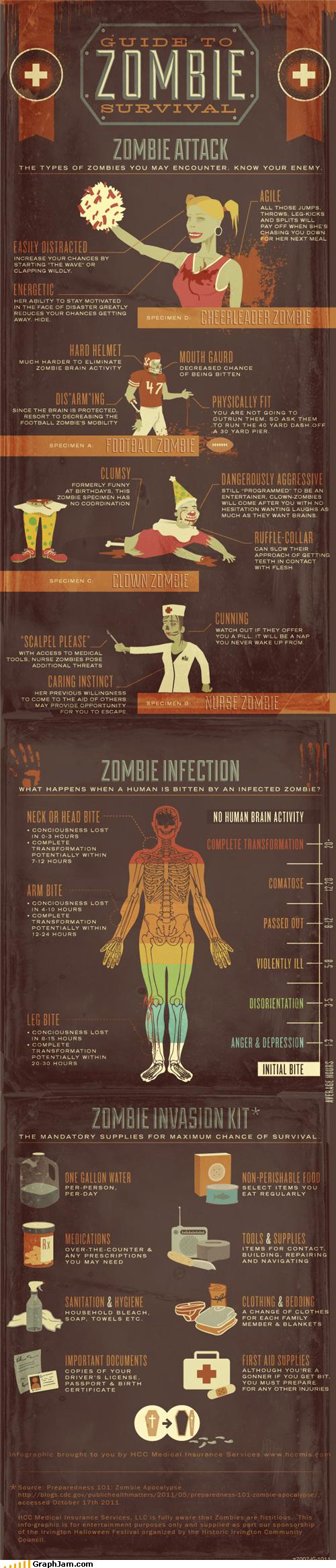 best of week,infographic,preparation,survival,zombie,zombie apocalypse