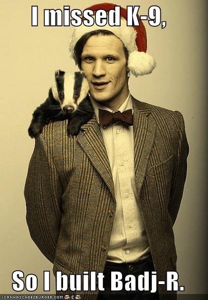 badger,doctor who,k-9,Matt Smith,missing,the doctor