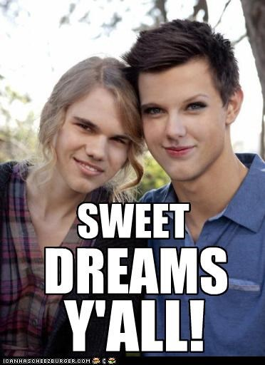 creepy,dreams,face swap,Hall of Fame,nightmares,taylor lautner,taylor swift