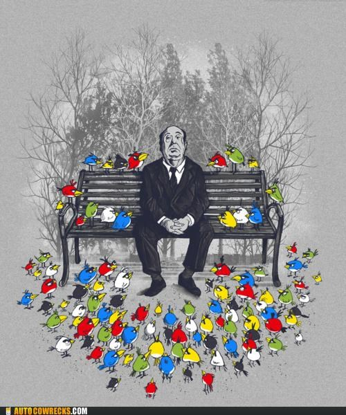 alfred hitchcock,angry birds,hitchcock,the birds
