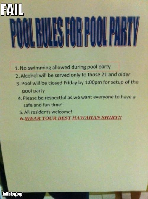 Pool Party FAIL