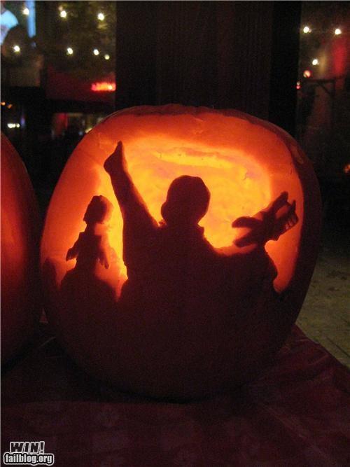 carving,halloween,nerdgasm,pop culture,pumpkins,sculpture,video game