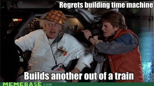 back to the future,doc,Memes,movies,time machine,time travel,train