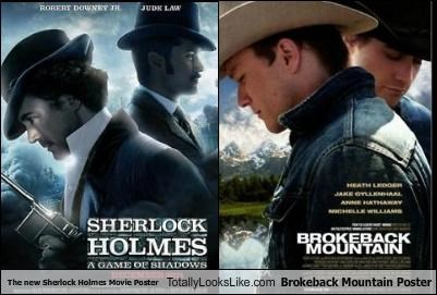 The new Sherlock Holmes Movie Poster Totally Looks Like Brokeback Mountain Poster