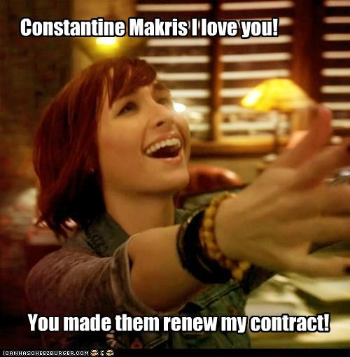 allison scagliotti,claudia donovan,constantine makris,contract,director,love,renewed,warehouse 13