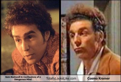 Sam Rockwell in Confessions of a Dangerous Mind Totally Looks Like Cosmo Kramer