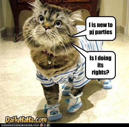 I is new to pj parties