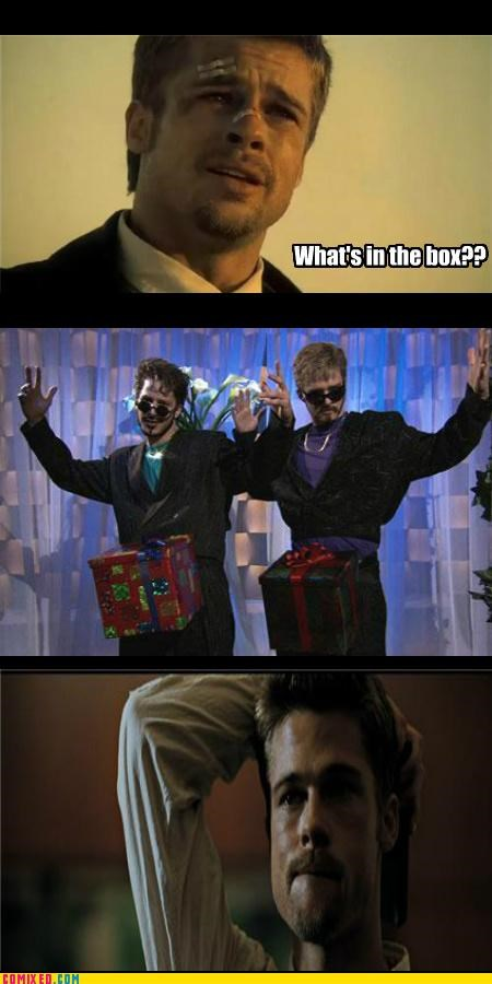 brad pitt,dat box,From the Movies,movies,seven,SNL,whats in the box
