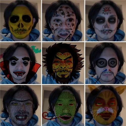 Digital Halloween Masks of the Day