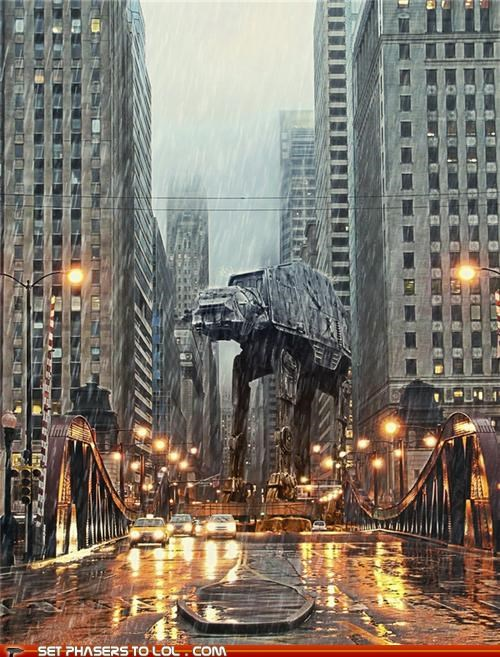 Digital Art: An AT-AT in Chicago