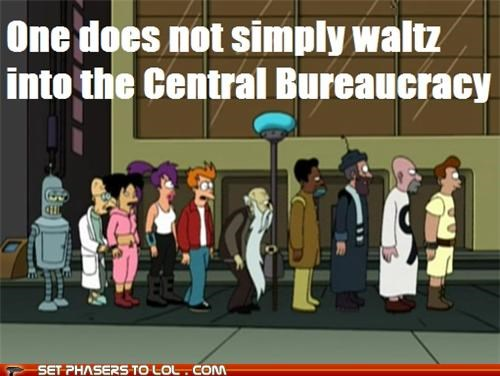 amy,bender,bureaucracy,futurama,leela,Philip J Fry,professor farnsworth