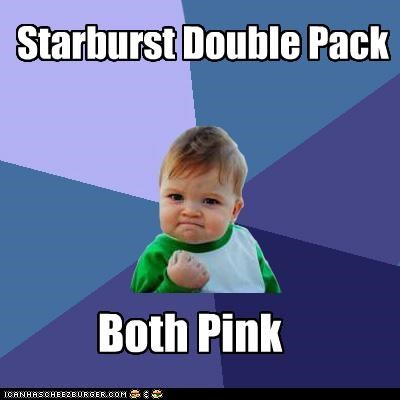 candy,flavor,food,pink,starburst,success kid