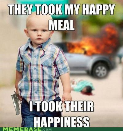 Death,gun,happiness,happy meal,kid,PTSD Clarinet Kid,toy