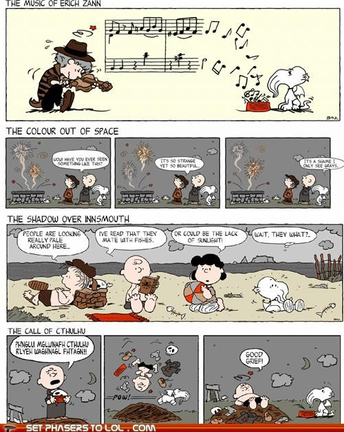 charlie brown,comic strips,cthulhu,lovecraft