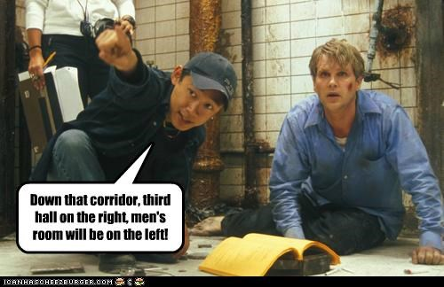 bathrooms,cary elwes,directions,directors,saw,toilets
