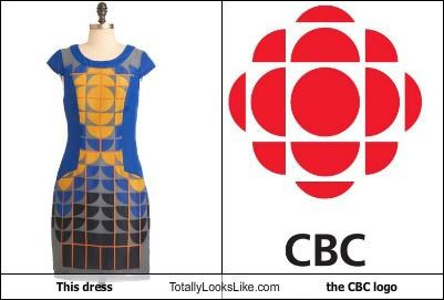 This Dress Totally Looks Like The CBC logo
