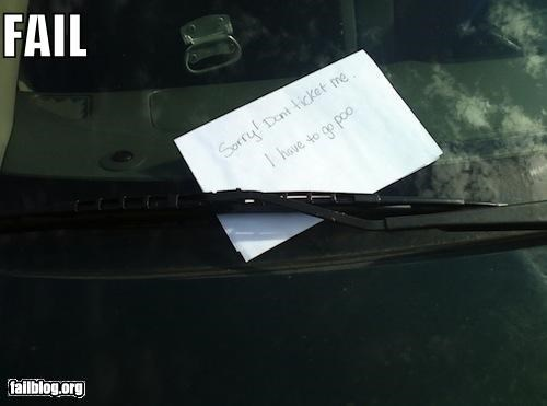 Parking Excuse FAIL