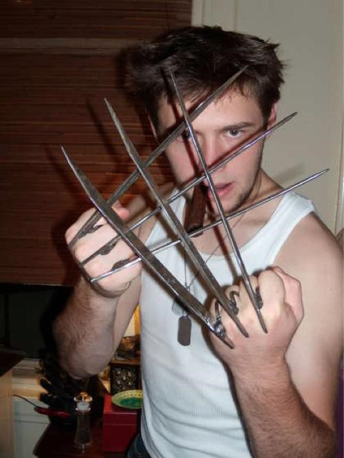 Homemade Wolverine Claws of the Day